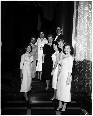 """""""Miss Van Nuys contest"""", 1958."""