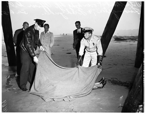 Body found under pier at Santa Monica, 1951