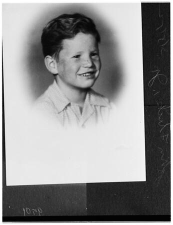 Boy on missing plane, 1952