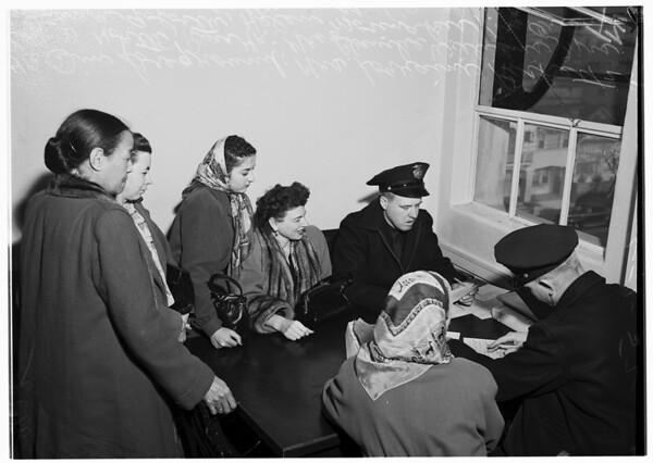 Street car crash victims, 1952