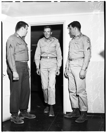 Three brothers released from Army, 1952