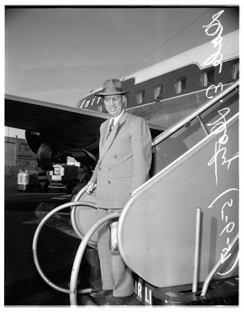 Department of interior official visits here, 1951