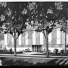 A sketch of a two story building for medical research, Pasadena, 1958