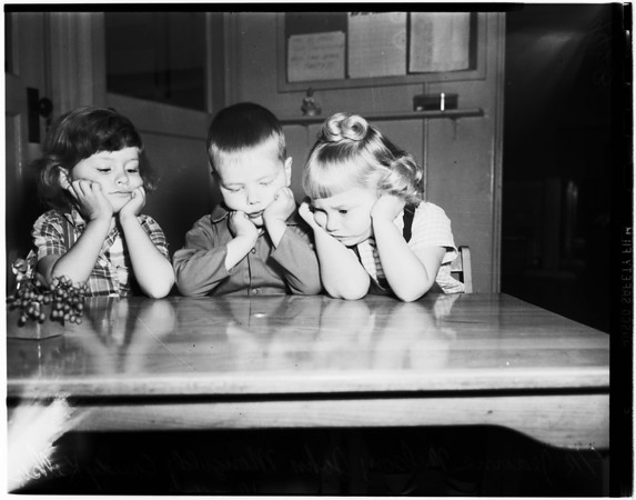 Christmas party money stolen (Long Beach, State Child Care Center), 1951