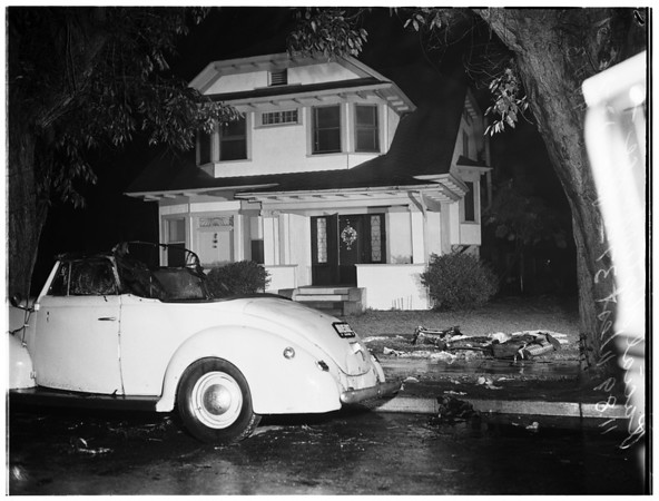 Vandalism as result of race prejudice ...1189 West 37th Place, 1951