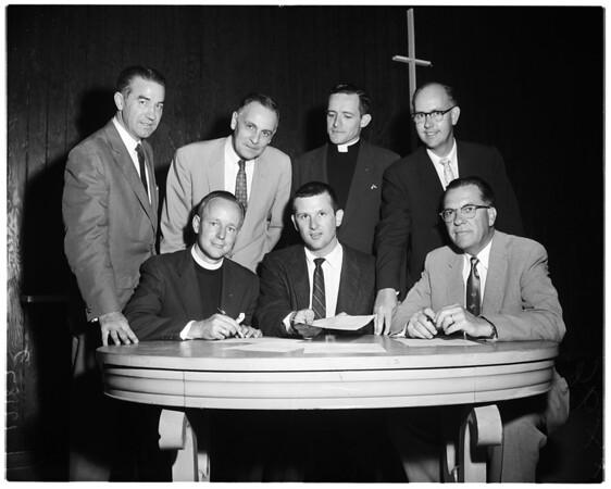 Clergy ask nuclear test halt, 1957