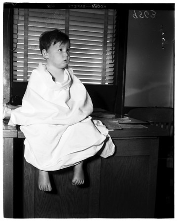 Missing boy shows up at Police Station, 1952.