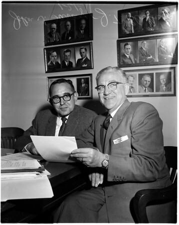Car insurance press conference, 1958