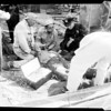 Worker hurt in fourty foot fall (Wilmington), 1951