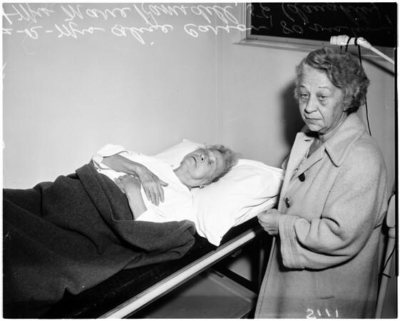 Robbery victim, 1958.