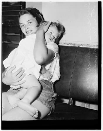 Baby takes ant paste, 1951