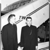 Bishop Manning flies to Spain, 1952