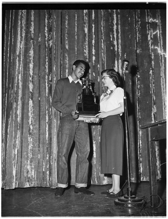 Sportsmanship Award ...Lincoln High School, 1951.