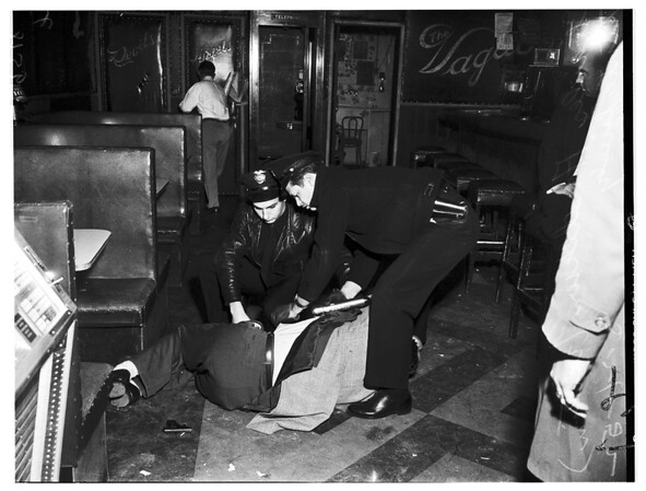 Attempt suicide in bar at 1100 West 7th Street, 1952