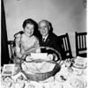 Fiftieth wedding anniversary, 1958