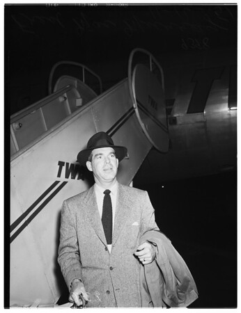 Arrival from London, 1951