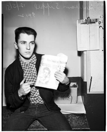 William Sippel, boy-friend of Martha De Vigier (Not in Picture), 1951