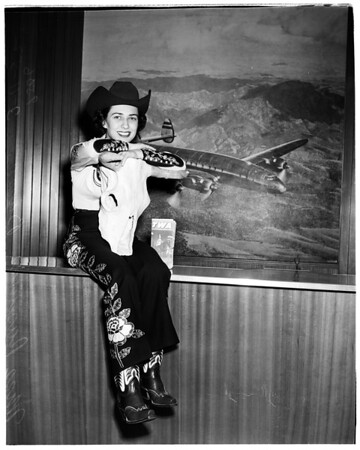 Arizona Rodeo to be held in Phoenix, March 21-23 ...Queen visits Los Angeles, 1952