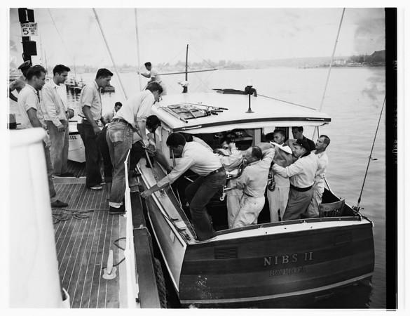 Boat blast victim (Balboa), 1951