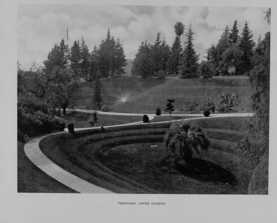 The Terraces in the Upper Garden of Busch Gardens, ca. 1910-1940