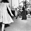 Sister Mary Rose plays baseball with the orphans of the Los Angeles Orphanage, 1951