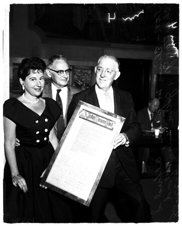 John Anson Ford honored by Union, 1958
