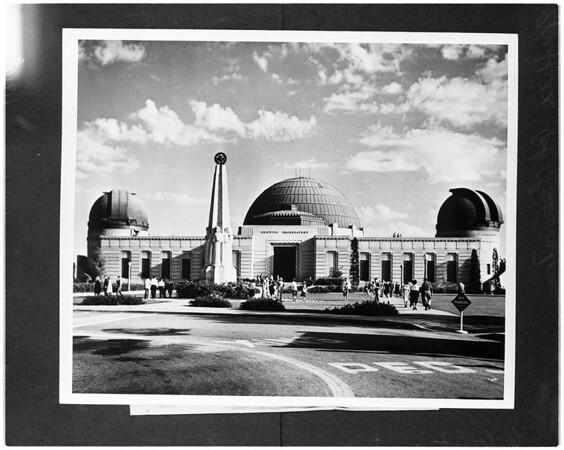 Griffith Park Observatory (copy negative), 1956