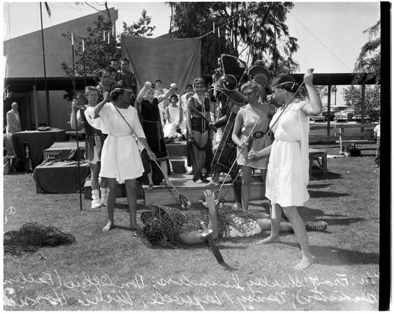 Women and men's week at Harbor Junior College, 1957