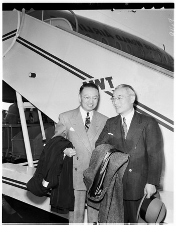 Chinese diplomat arrives, 1951