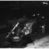 Auto hits underpass and overturns... at Washington Boulevard, east of Santa Fe Avenue, 1952