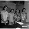 Juvenile car prowlers lead cops on 8 mile chase, 1951
