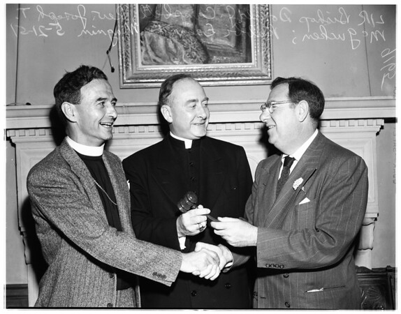 New president of the university religious conference at UCLA, 1951