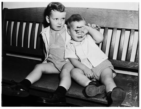 Accidental poisoning ...two children drink Purex ...saved, 1952.