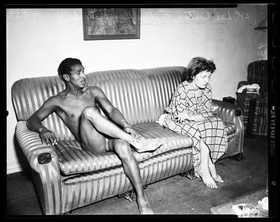Vice raid...6526 Selma Avenue, 1951