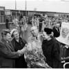 Rotary president arrival, 1958