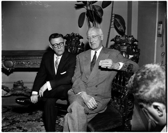 Hoover Report press conference, 1958
