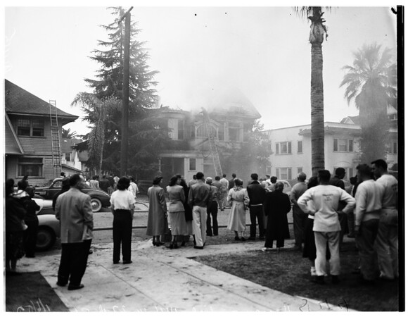 House fire at 1146 West 27th Street, 1952