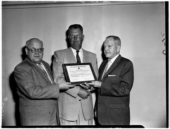 Red Cross Heroism Award, 1958.