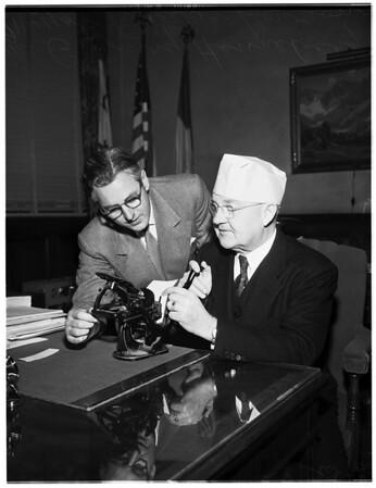 Printing week proclaimed by mayor, 1952