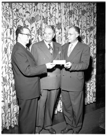 Check presentation, 1951