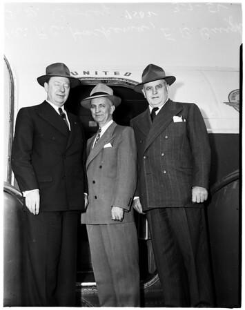 Purdue University officials visit Los Angeles, 1952