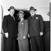 Purdue University officials visit Los Angeles, 1952