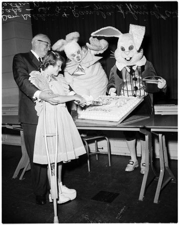 Easter seal campaign, 1958