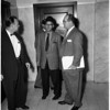 Simone Scozzari arrested as violator of immigration law, 1958