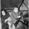 Two year old boy who started auto and got into traffic crash, 1951