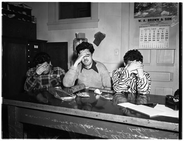 Narcotics arrests (Central Police Station), 1952