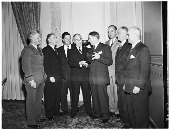 Honored for work in rebuilding United States air strength, 1951
