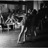 Amateur ballet practice in San Pedro, 1958