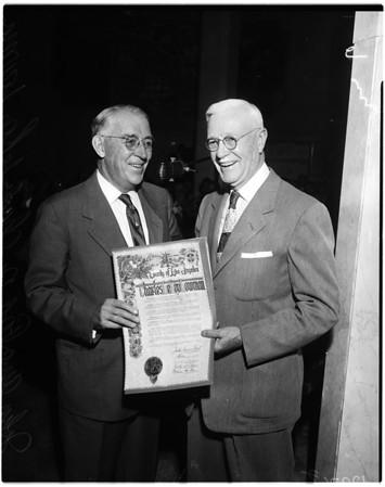 Supervisor honor Doctor Lowman, 1958