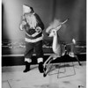 Christmas at Butler Brothers at Lakewood Park ...Rudolph's nose catches on fire, 1951